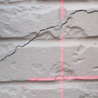 外壁パネルの破断個所(最初に発見した部分)